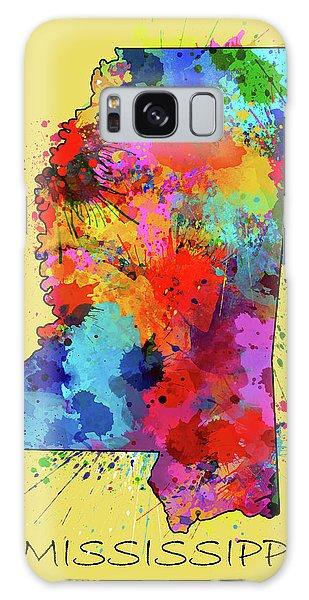 Us Civil War Galaxy Case - Mississippi Map Color Splatter 4 by Bekim M