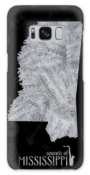 Us Civil War Galaxy Case - Mississippi Map Music Notes 2 by Bekim M