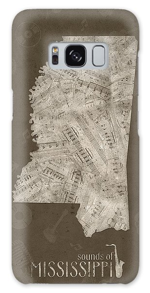 Us Civil War Galaxy Case - Mississippi Map Music Notes 3 by Bekim M