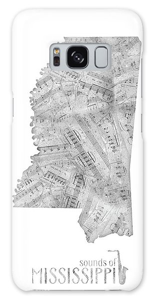 Us Civil War Galaxy Case - Mississippi Map Music Notes by Bekim M