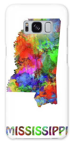 Us Civil War Galaxy Case - Mississippi Map Watercolor by Bekim M