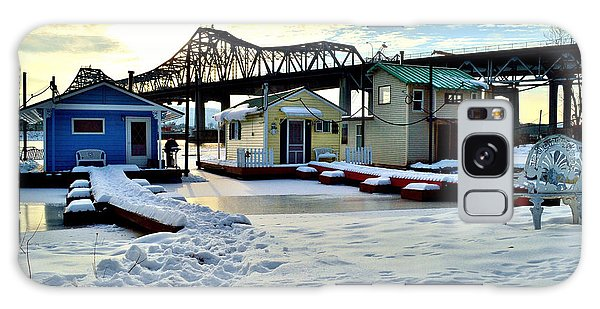 Mississippi River Boathouses Galaxy Case