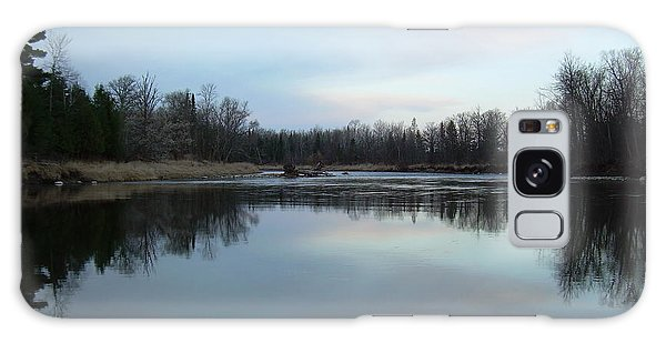 Mississippi River Morning Reflection Galaxy Case by Kent Lorentzen