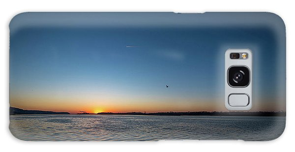 Mississippi River Sunrise Galaxy Case