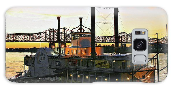 Mississippi Riverboat Sunset Galaxy Case