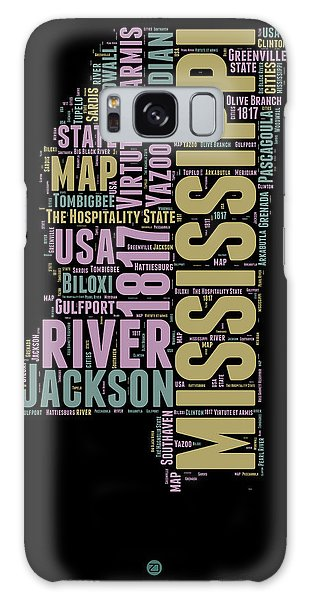 America Map Galaxy Case - Mississippi Word Cloud 1 by Naxart Studio