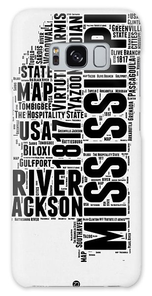 America Map Galaxy Case - Mississippi Word Cloud 2 by Naxart Studio