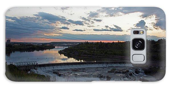 Missouri River Black Eagle Falls Mt Galaxy Case