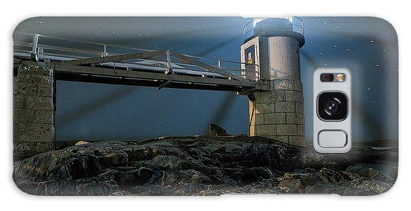 Mist At Marshall Point Light Galaxy Case
