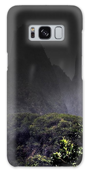 Mist Over Iao Needle Galaxy Case
