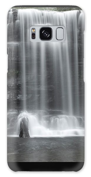 Misty Canyon Waterfall Galaxy Case by John Stephens