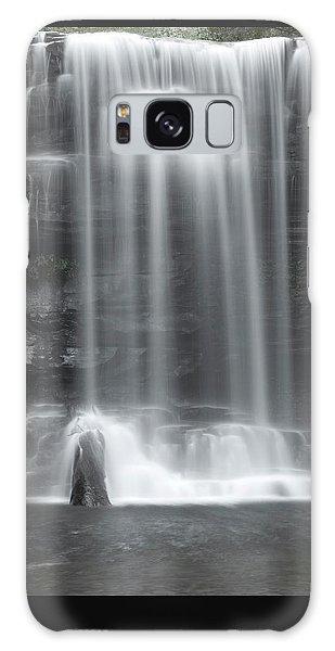 Misty Canyon Waterfall Galaxy Case