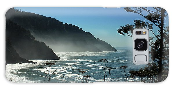 Misty Coast At Heceta Head Galaxy Case