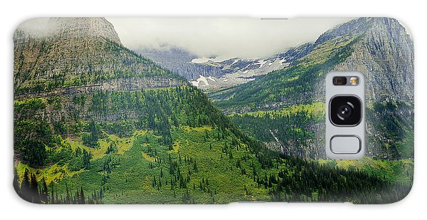 Misty Glacier National Park View Galaxy Case