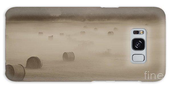 Misty Hay Bales Galaxy Case