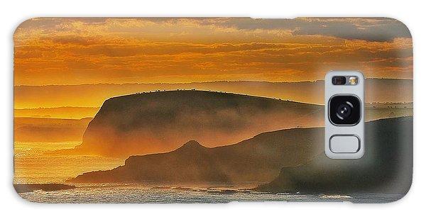 Misty Island Sunset Galaxy Case by Blair Stuart