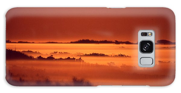 Misty Meadow At Sunrise Galaxy Case
