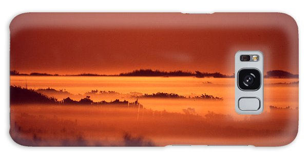 Misty Meadow At Sunrise Galaxy Case