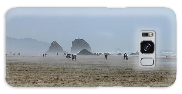 Misty Morning At Cannon Beach Galaxy Case