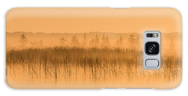 Misty Morning Floating Bog Island On Boy Lake Galaxy Case by Patti Deters