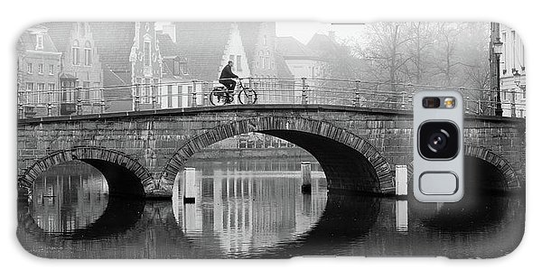 Misty Morning In Bruges  Galaxy Case