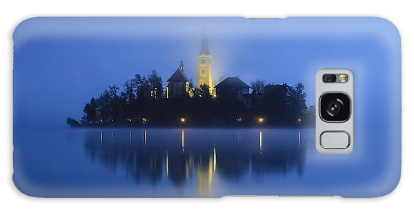 Misty Morning Lake Bled Slovenia Galaxy Case