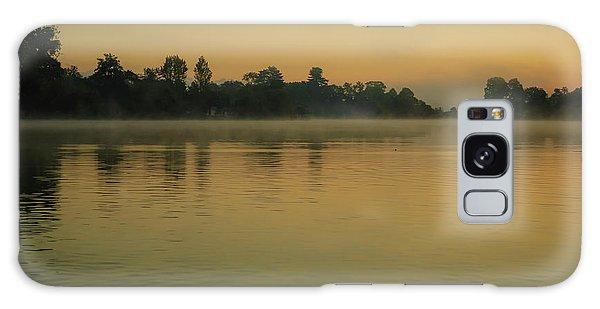 Misty Morning Lake Galaxy Case