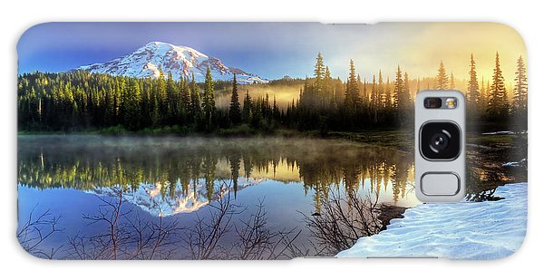 Misty Morning Lake Galaxy Case