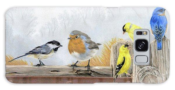 Song Bird Galaxy Case - Misty Morning Meadow by Sarah Batalka