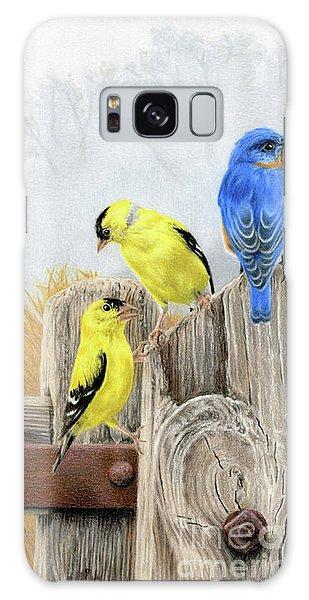 Chickadee Galaxy S8 Case - Misty Morning Meadow by Sarah Batalka
