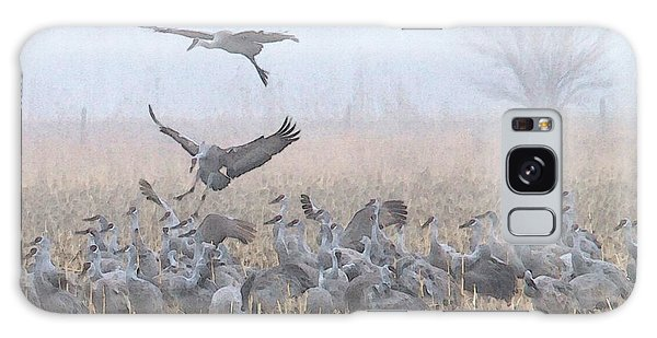 Misty Morning Nebraska Landing Galaxy Case