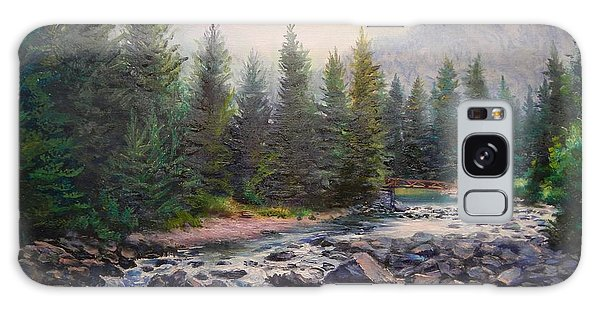 Misty Morning On East Rosebud River Galaxy Case by Patti Gordon