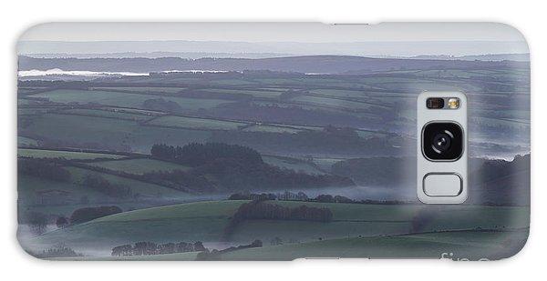 Misty Morning On Exmoor  Galaxy Case