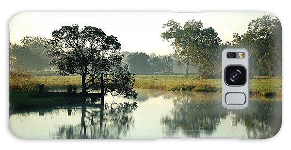 Misty Morning Pond Galaxy Case
