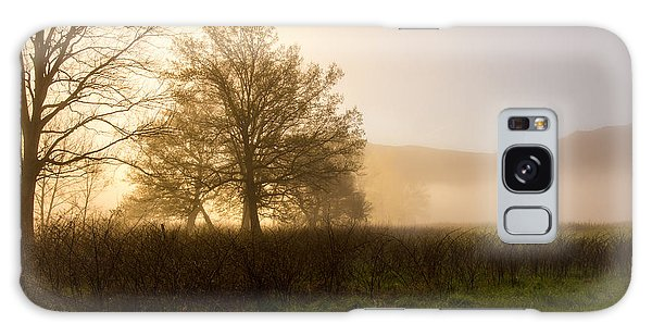 Misty Morning Galaxy Case by Rebecca Hiatt