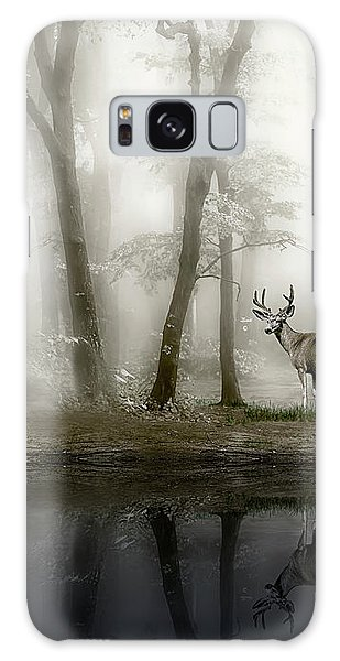 Misty Morning Reflections Galaxy Case by Diane Schuster