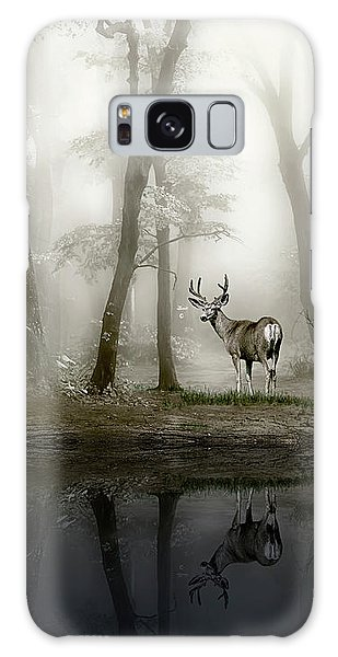 Misty Morning Reflections Galaxy Case
