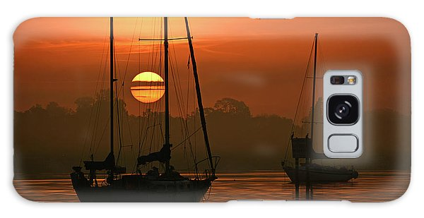 Misty Morning Sunrise Galaxy Case