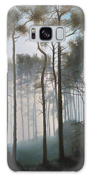 Misty Morning Walk Galaxy Case