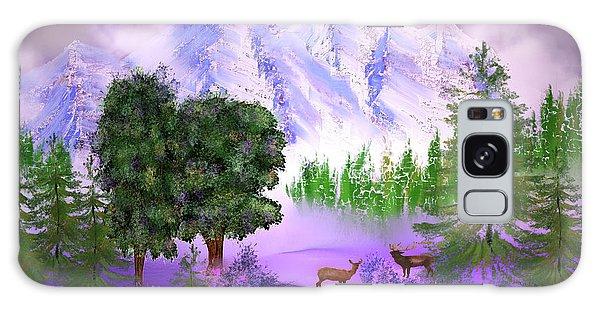 Misty Mountain Deer Galaxy Case