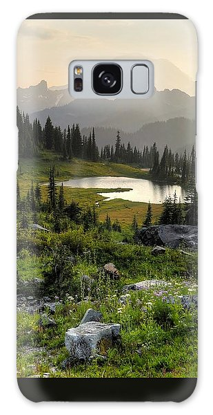 Misty Mountain Landscape Galaxy Case by Peter Mooyman