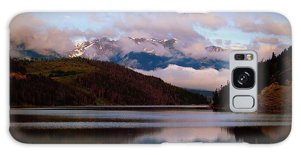 Misty Mountain Morning Galaxy Case by Karen Shackles