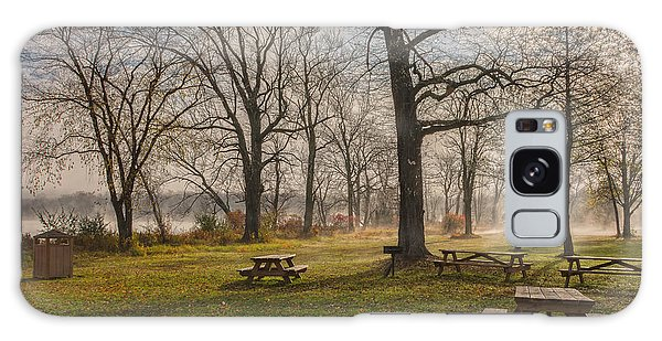 Misty November Picnic Grove Galaxy Case