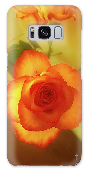 Misty Orange Rose Galaxy Case