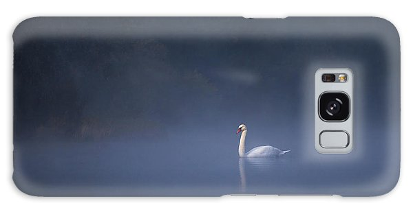 Galaxy Case featuring the photograph Misty River Swan by Davor Zerjav