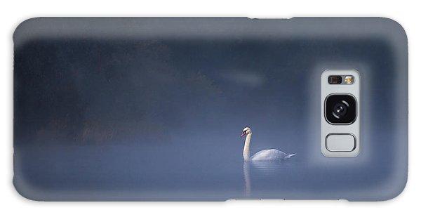 Misty River Swan Galaxy Case