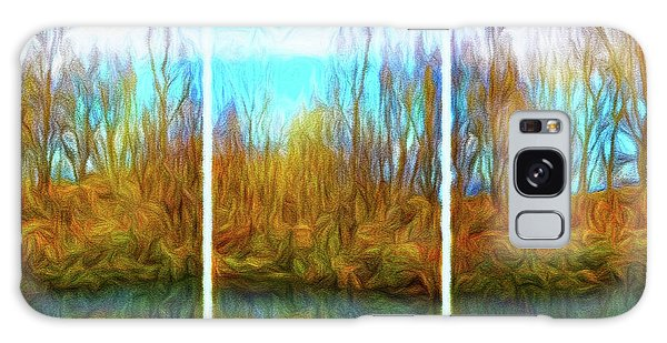 Misty River Vistas - Triptych Galaxy Case
