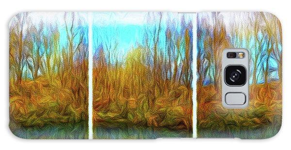 Misty River Vistas - Triptych Galaxy Case