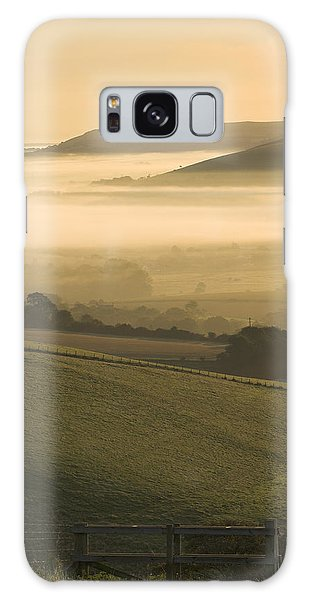 Misty South Downs Galaxy Case by Hazy Apple