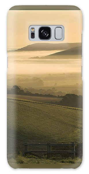 Misty South Downs Galaxy Case